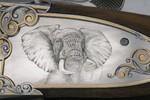 Elefant,Jagdwaffe,Waffengravur,Bulinostil